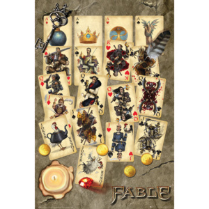 Fable - Playing Cards Plakát, (61 x 91,5 cm)
