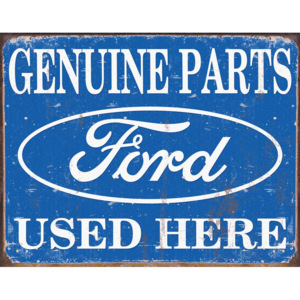 Fémplakát - Ford (genuine parts used here)