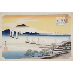 Returning Sails at Yabase, from the series, '8 views of Omi', c.1834 Festmény reprodukció, Ando or Utagawa Hiroshige