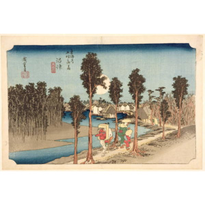 Numazu - Twilight, from the series, '53 Stations on the Eastern Coast Road', 1833 Festmény reprodukció, Ando or Utagawa Hiroshige