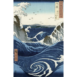 View of the Naruto whirlpools at Awa, from the series 'Rokuju-yoshu Meisho zue' (Famous Places of the 60 and Other Provinces) Festmény reprodukció, Ando or Utagawa Hiroshige