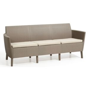 Salema 3 seater sofa - cappuccino