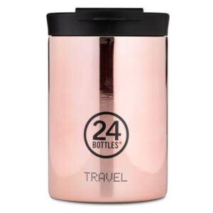 Travel GRAND COLLECTION Rose Gold 0,35l kávé termosz dupla falú utazó bögre
