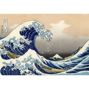 Üvegkép The Great Wave Off Kanagawa, Hokusai