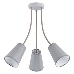 TK Lighting csillár rúdon WIRE GRAY 3xE27/60W/230V TK2100