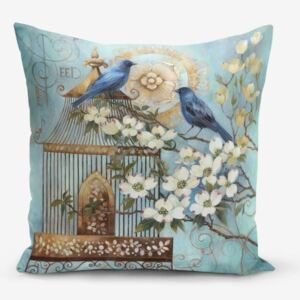 Blue Bird pamutkeverék párnahuzat, 45 x 45 cm - Minimalist Cushion Covers
