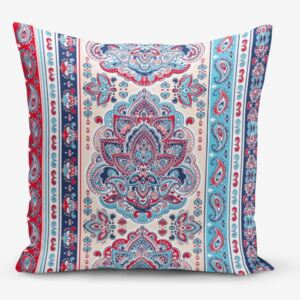 Red Blue Cini Modern pamutkeverék párnahuzat, 45 x 45 cm - Minimalist Cushion Covers