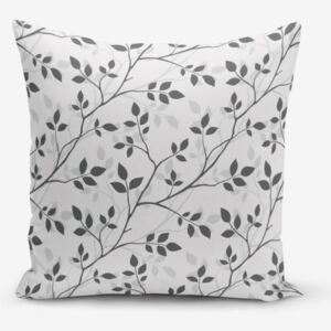 Grey Background Leaf pamutkeverék párnahuzat, 45 x 45 cm - Minimalist Cushion Covers