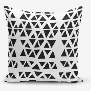 Black Triangle Modern pamutkeverék párnahuzat, 45 x 45 cm - Minimalist Cushion Covers