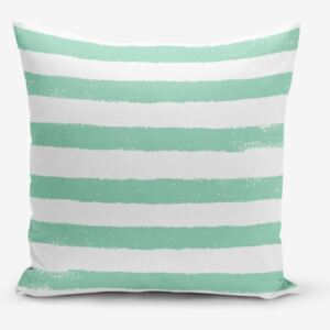 Su Green Striped Modern pamutkeverék párnahuzat, 45 x 45 cm - Minimalist Cushion Covers