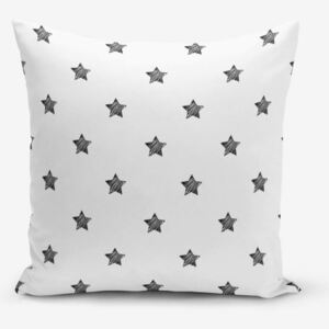 White Background Star fekete-fehér pamutkeverék párnahuzat, 45 x 45 cm - Minimalist Cushion Covers