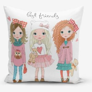 Best Friends pamutkeverék párnahuzat, 45 x 45 cm - Minimalist Cushion Covers