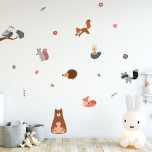 Scandinavian Animals Bear and his Friends gyerek falmatrica szett - Ambiance