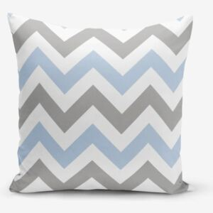 Zigzag Modern Blue párnahuzat, 45 x 45 cm - Minimalist Cushion Covers