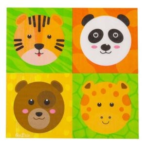 Zoo Party 16 db papírszalvéta, 33 x 33 cm - GiviItalia