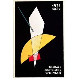 Moholy-Nagy, Laszlo - Poster for a Bauhaus exhibition in Weimar, Germany, 1923 Festmény reprodukció