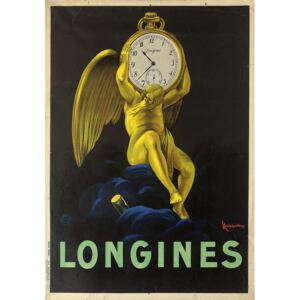Cappiello, Leonetto - Advertising poster for the Swiss watchmakers Longines, 1922 Festmény reprodukció