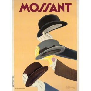 Cappiello, Leonetto - Advertising poster for Mossant hats, 1938 Festmény reprodukció