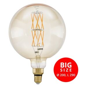 Eglo 11687 Big Size 8W E27 806lm 2100K filament LED 290xD200mm