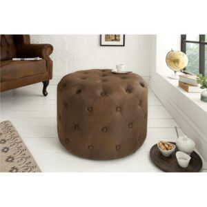 CHESTERFIELD vintage barna puff 60cm