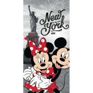 Mickey and Minnie in New York törölköző, 70 x 140 cm