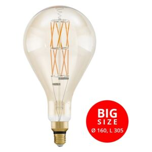 Eglo 11686 Big Size 8W E27 806lm 2100K filament LED 305xD160mm