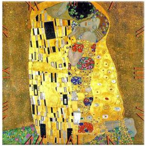 Klimt üveg falióra - The Kiss