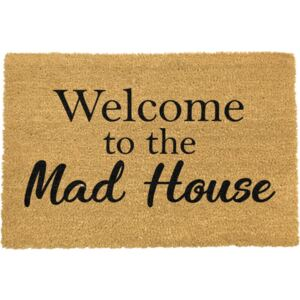 Welcome To The Mad House lábtörlő, 40 x 60 cm - Artsy Doormats