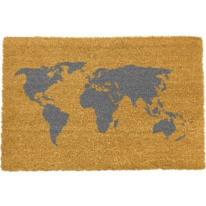 World Map lábtörlő, 40 x 60 cm - Artsy Doormats
