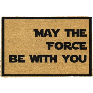 May The Force Be With You természetes kókuszrost lábtörlő, 40 x 60 cm - Artsy Doormats