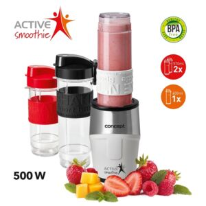 Concept SM3380 Smoothie maker Active Smoothie, 500 W fehér 2 x 570 ml + 400 ml