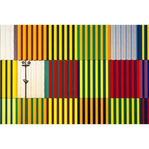 Light and coloured verticals, (128 x 85 cm)