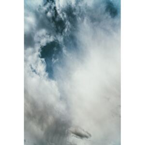 Strong blue sky with clouds, (85 x 128 cm)