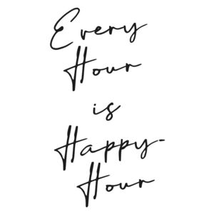Every hour is happy hour, (96 x 128 cm)