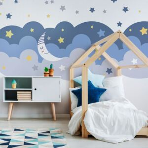 Scandinavian Clouds With Stars And Moon falmatrica - Ambiance