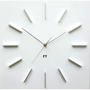 Future Time FT1010WH Square white Design falióra, 40 cm