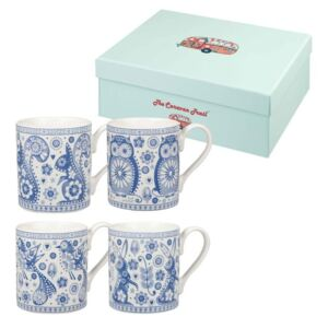 Penzance Blue Mug 4 db-os porcelán bögre szett, 250 ml - Churchill China