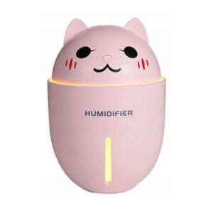 Aroma diffúzor LED USB 4 az 1-ben 320ml PINK CAT