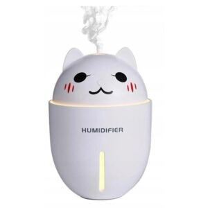 Aroma diffúzor LED USB 4 az 1-ben 320ml WHITE CAT