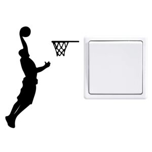 Falmatrica GLIX - Basketball player 9 x 12 cm Fekete
