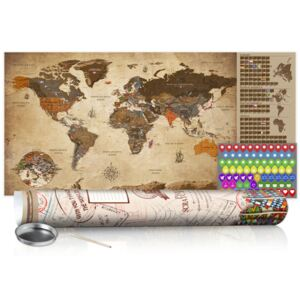 Scratch map Bimago - Vintage Map 100x50 cm