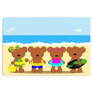 Kép CARO - Teddy Bears On The Beach 40x30 cm