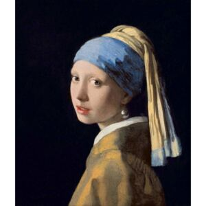 Jan (1632-75) Vermeer - Girl with a Pearl Earring, c.1665-6 Festmény reprodukció