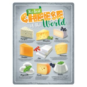Fémtáblák: The Best Cheese of the World - 30x40 cm