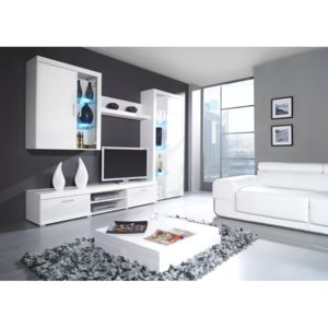 MEBLINE Modular Living Room Furniture SAMBA IIB white gloss