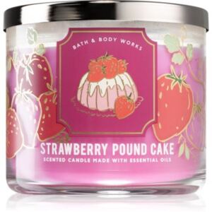 Bath & Body Works Strawberry Pound Cake illatos gyertya I. 411 g