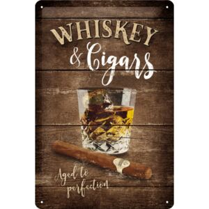 Nostalgic Art Fémtáblák - Whiskey & Cigars