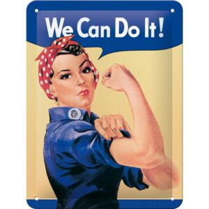Nostalgic Art Fémplakát: We Can Do It! - 20x15 cm