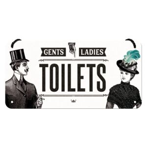 Nostalgic Art Fémtáblák: Gents and Ladies Toilets - 10x20 cm