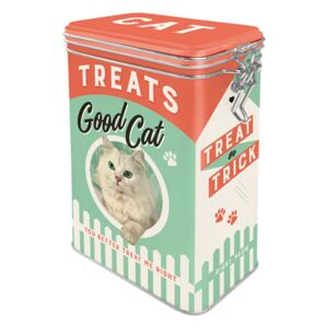 Nostalgic Art Fémdoboz csatos - Good Cat Treats